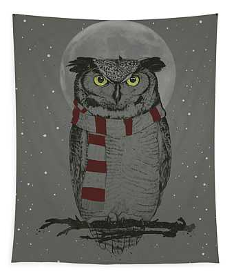 Winter Owl Tapestry