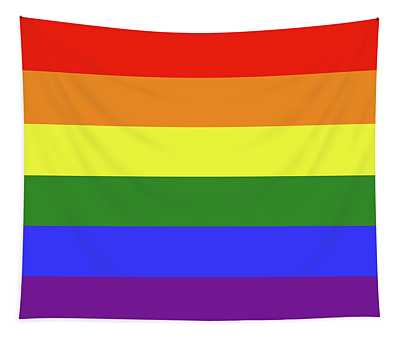 Lgbt 6 Color Rainbow Flag Tapestry
