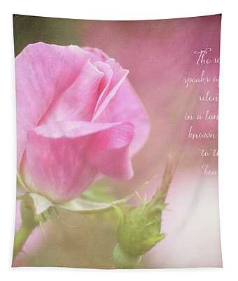 The Rose Speaks Of Love Photograph Tapestry
