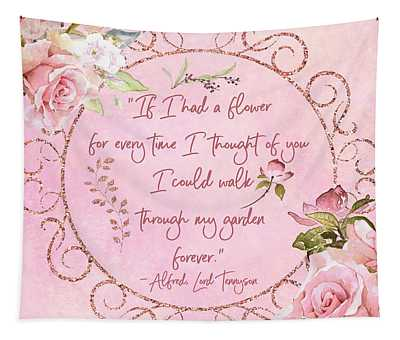 If I Had A Flower Love Artwork Tapestry