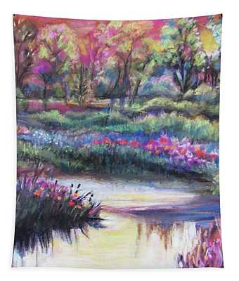 Blooming Along The Bank Tapestry