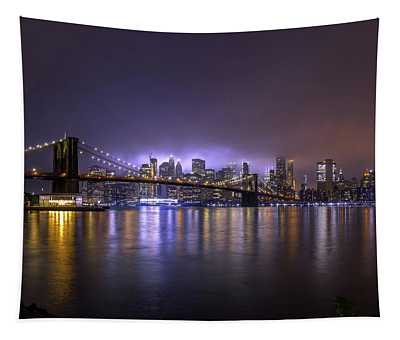 Bright Lights Of New York II Tapestry
