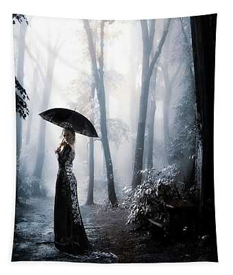 Silver Forest Walk Tapestry
