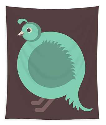 Letter Q - Animal Alphabet - Quail Monogram Tapestry