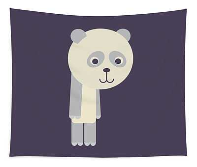 Letter P - Animal Alphabet - Panda Monogram Tapestry