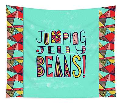 Jumping Jelly Beans Tapestry