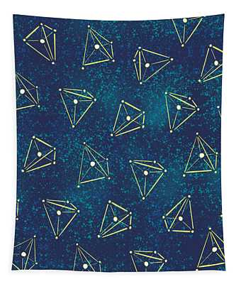 Tetrahedral Molecular Geometry Constellations Tapestry