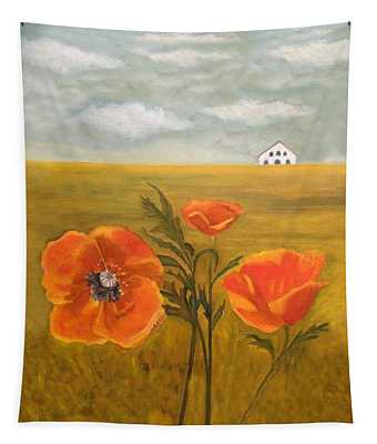 Springtime Storm Tapestry