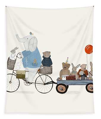 Bears And Bunnies Tapestry