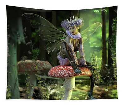 Fairy At The Bottom Of The Garden Tapestry