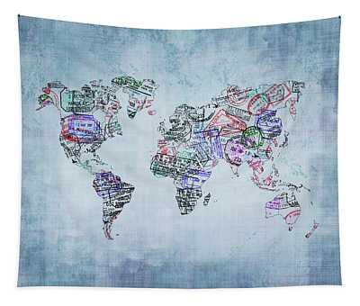 Traveler World Map Tapestry