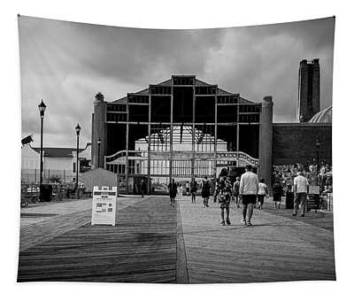 Tapestry featuring the photograph Asbury Park Boardwalk by Steve Stanger