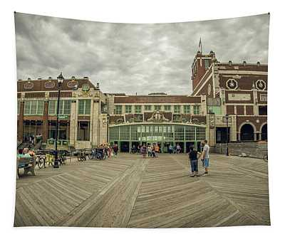 Tapestry featuring the photograph Asbury Park Convention Hall by Steve Stanger