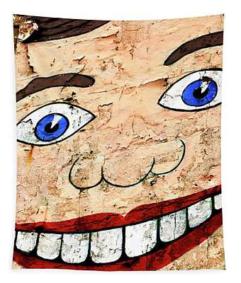 Asbury Park Tillie Smile Mural Tapestry by John Rizzuto