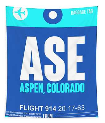 Ase Aspen Luggage Tag II Tapestry