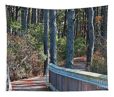 Tapestry featuring the photograph Assateague Nature Trail by Patti Whitten
