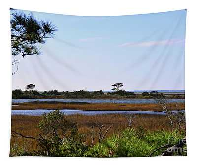 Tapestry featuring the photograph Assateague Wetlands by Patti Whitten