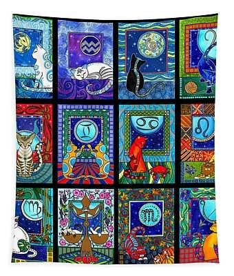 Astrology Cat Zodiacs Tapestry