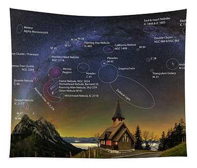 Astrophotography Winter Wonderland Tapestry