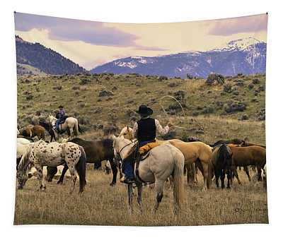 At Home On The Range 5 Tapestry