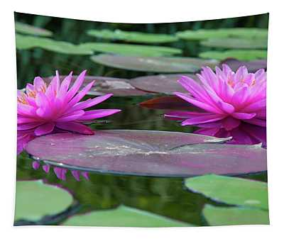 At Longwood Gardens - Water Lillies  Tapestry