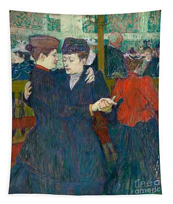 At The Moulin Rouge Two Women Walzing, 1892 Tapestry