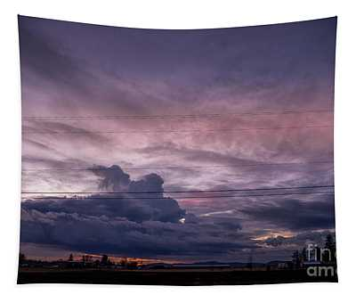 Tapestry featuring the photograph Atlas Road Sunset - November 5, 2018 by Matthew Nelson