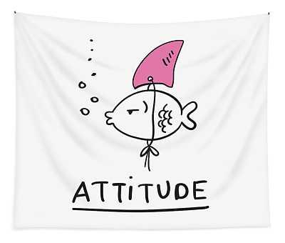 Attitude - Baby Room Nursery Art Poster Print Tapestry