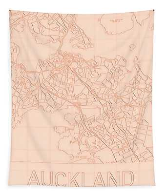 Auckland Blueprint City Map Tapestry