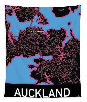 Auckland City Map Tapestry