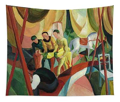 August Macke -meschede, 1887-perthes-les-hurlus, 1914-. Circus -1913-. Oil On Cardboard. 47 X 63.... Tapestry