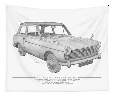 Austin A40 Farina Saloon Tapestry