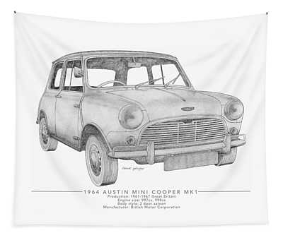 Austin Mini Cooper Saloon Tapestry