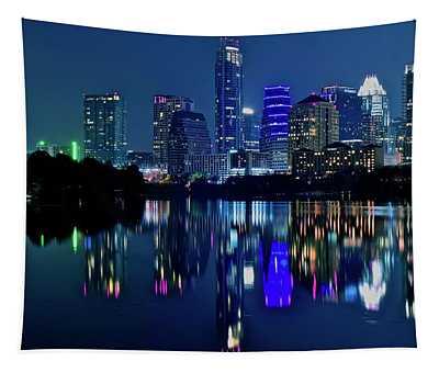 Austin Night Reflection Tapestry