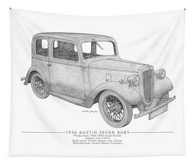 Austin Seven Ruby Saloon Tapestry
