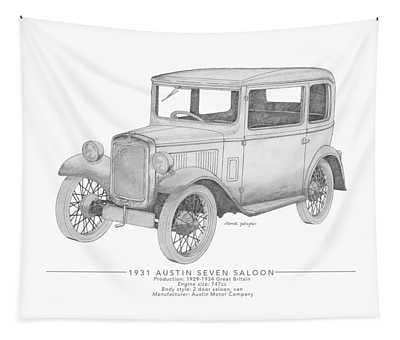 Austin Seven Saloon Tapestry