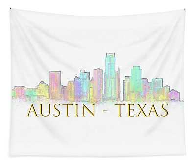Austin Skyline Tapestry