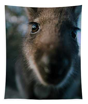 Australian Bush Wallaby Outside During The Day. Tapestry