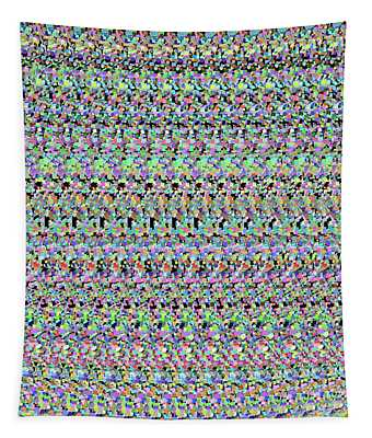 Autostereogram Dna Multicoloured Tapestry