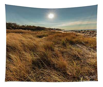 Autumn At The Beach Cape Cod Tapestry