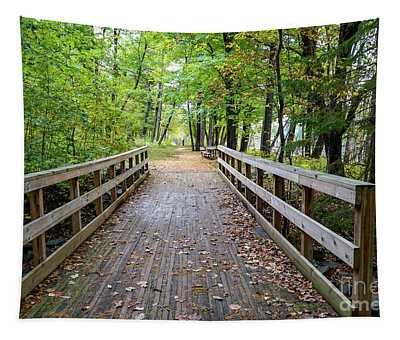 Autumn Bridge Tapestry