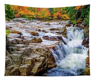 Autumn Color At Rocky Gorge Tapestry