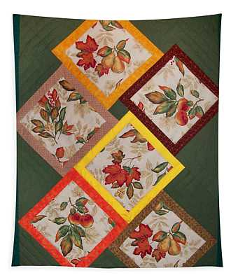 Autumn Fruit And Leaves Tapestry