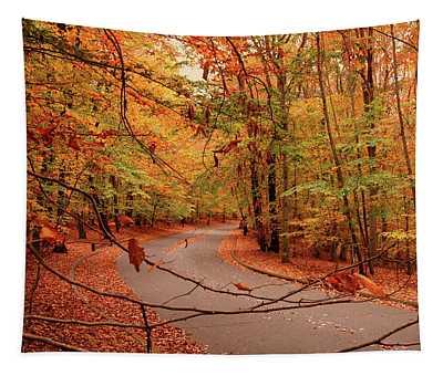 Autumn In Holmdel Park Tapestry