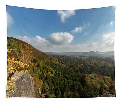 Autumn In The Elbe Sandstone Mountains Tapestry