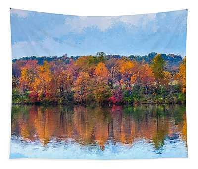 Autumn Lake  Tapestry