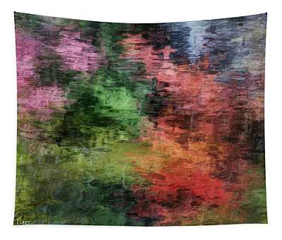 Autumn Lake Reflections Tapestry