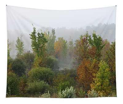 Autumn Morning Fog Tapestry