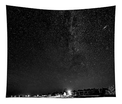 Autumn Night - Sauble Beach - Two Galaxies Bw Tapestry