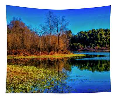 Autumn On The Lake Tapestry